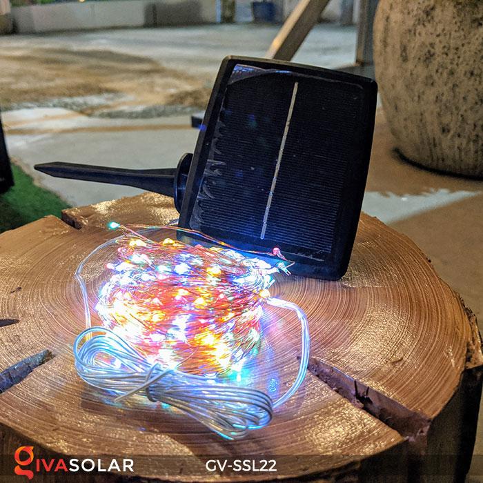 Đèn LED dây năng lượng mặt trời đa sắc SSL22 2