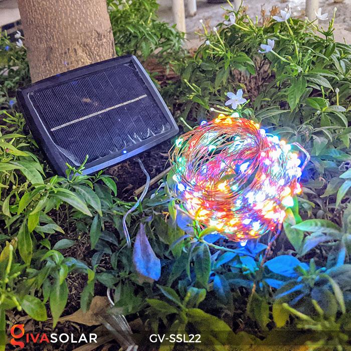 Đèn LED dây năng lượng mặt trời đa sắc SSL22 3
