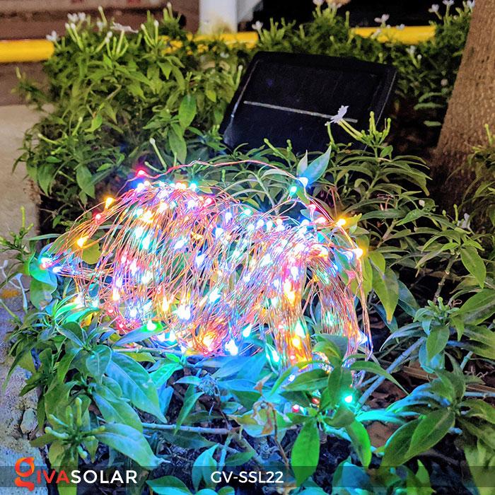 Đèn LED dây năng lượng mặt trời đa sắc SSL22 8