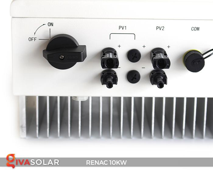 Inverter hòa lưới dùng cho hệ thống điện mặt trời 10kW 3 pha RENAC (NAC10K-DT) 10
