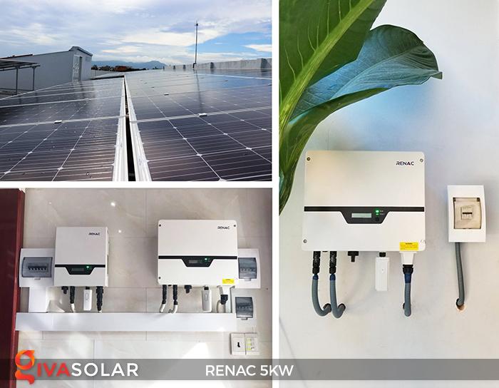 Bộ inverter hòa lưới điện năng lượng mặt trời 1 pha RENAC NAC5K-DS 5kW 1