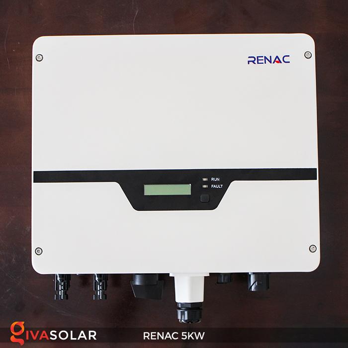 Bộ inverter hòa lưới điện năng lượng mặt trời 1 pha RENAC NAC5K-DS 5kW 10