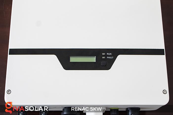 Bộ inverter hòa lưới điện năng lượng mặt trời 1 pha RENAC NAC5K-DS 5kW 12