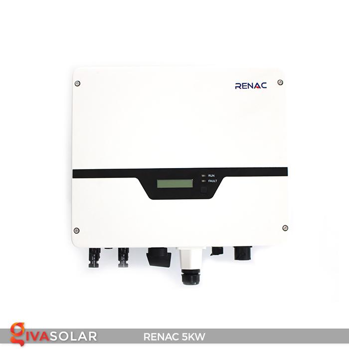 Bộ inverter hòa lưới điện năng lượng mặt trời 1 pha RENAC NAC5K-DS 5kW 15