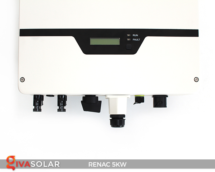 Bộ inverter hòa lưới điện năng lượng mặt trời 1 pha RENAC NAC5K-DS 5kW 16