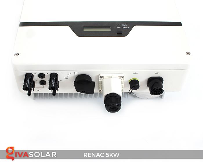 Bộ inverter hòa lưới điện năng lượng mặt trời 1 pha RENAC NAC5K-DS 5kW 18