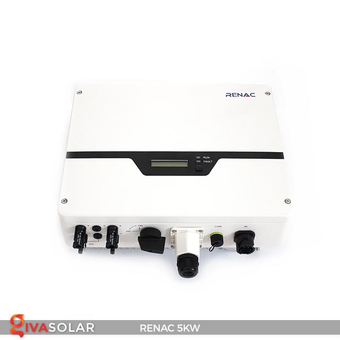 Bộ inverter hòa lưới điện năng lượng mặt trời 1 pha RENAC NAC5K-DS 5kW 19