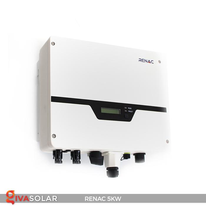 Bộ inverter hòa lưới điện năng lượng mặt trời 1 pha RENAC NAC5K-DS 5kW 22