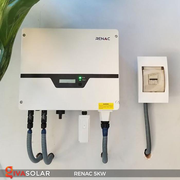 Bộ inverter hòa lưới điện năng lượng mặt trời 1 pha RENAC NAC5K-DS 5kW 3