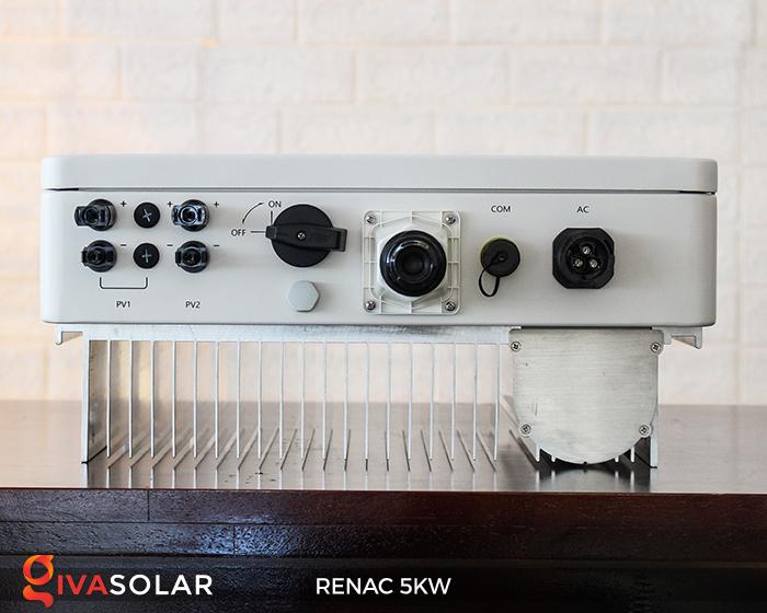 Bộ inverter hòa lưới điện năng lượng mặt trời 1 pha RENAC NAC5K-DS 5kW 4