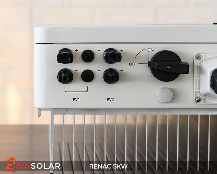 Bộ inverter hòa lưới điện năng lượng mặt trời 1 pha RENAC NAC5K-DS 5kW 5