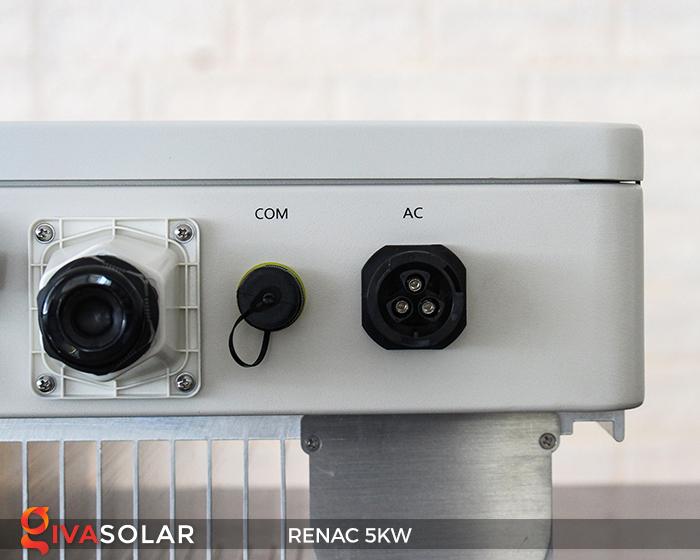 Bộ inverter hòa lưới điện năng lượng mặt trời 1 pha RENAC NAC5K-DS 5kW 6