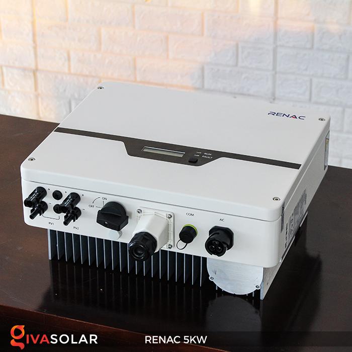 Bộ inverter hòa lưới điện năng lượng mặt trời 1 pha RENAC NAC5K-DS 5kW 8