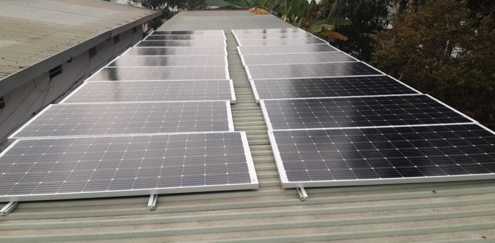 Lắp đặt hoàn tất hệ điện năng lượng mặt trời hòa lưới 10kW tại Bình Chánh 1