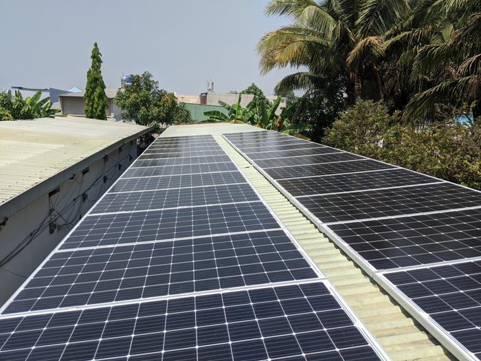 Lắp đặt hoàn tất hệ điện năng lượng mặt trời hòa lưới 10kW tại Bình Chánh 12