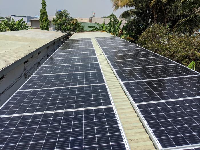 Lắp đặt hoàn tất hệ điện năng lượng mặt trời hòa lưới 10kW tại Bình Chánh 13