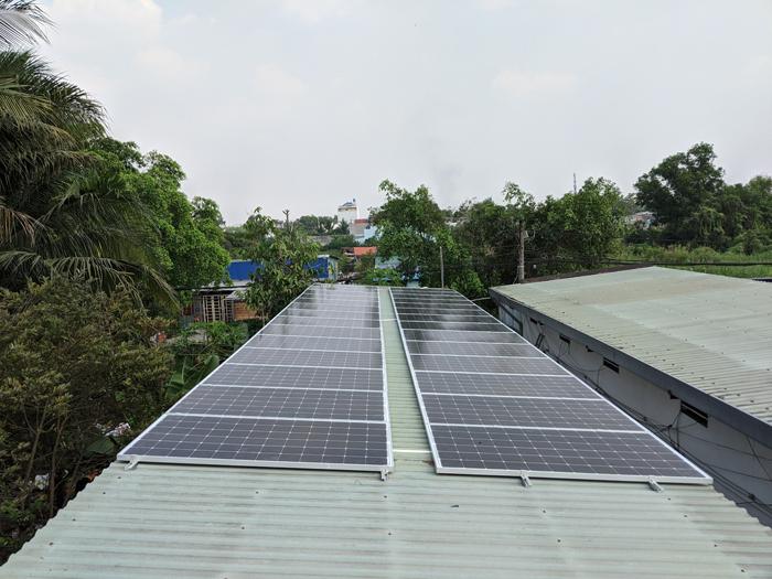 Lắp đặt hoàn tất hệ điện năng lượng mặt trời hòa lưới 10kW tại Bình Chánh 14