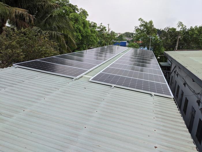 Lắp đặt hoàn tất hệ điện năng lượng mặt trời hòa lưới 10kW tại Bình Chánh 15
