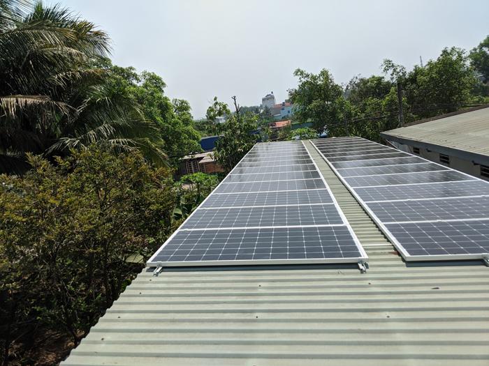 Lắp đặt hoàn tất hệ điện năng lượng mặt trời hòa lưới 10kW tại Bình Chánh 7