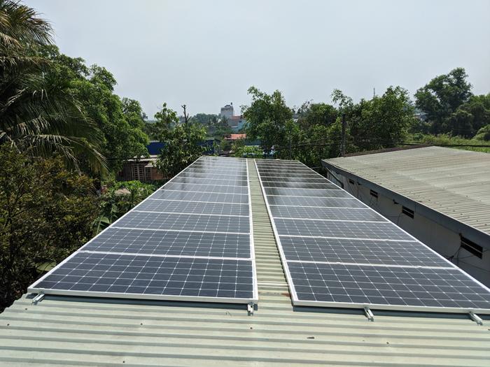 Lắp đặt hoàn tất hệ điện năng lượng mặt trời hòa lưới 10kW tại Bình Chánh 8