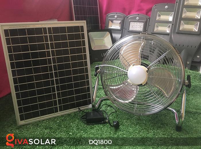 Quạt năng lượng mặt trời tiện lợi DQ1800 1