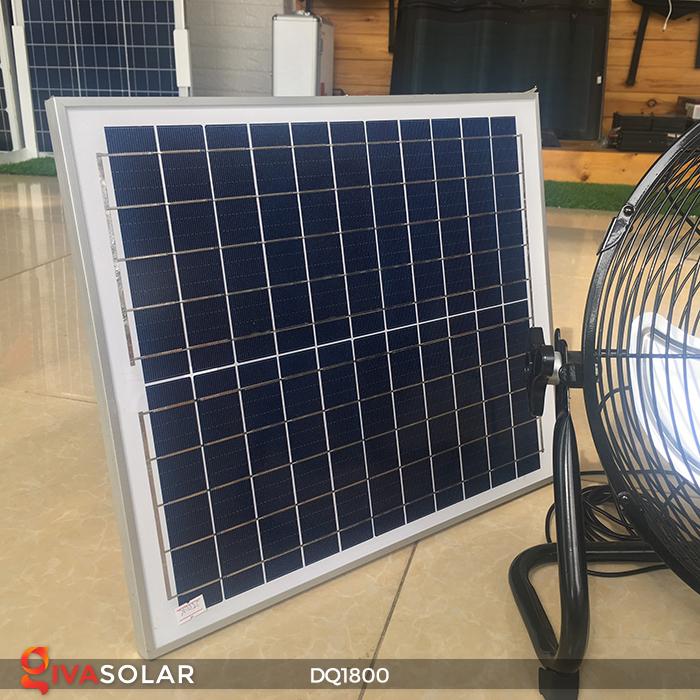 Quạt năng lượng mặt trời tiện lợi DQ1800 12