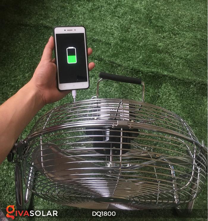 Quạt năng lượng mặt trời tiện lợi DQ1800 2