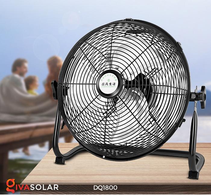 Quạt năng lượng mặt trời tiện lợi DQ1800 4