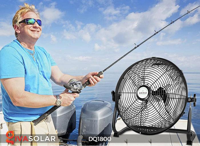 Quạt năng lượng mặt trời tiện lợi DQ1800 5