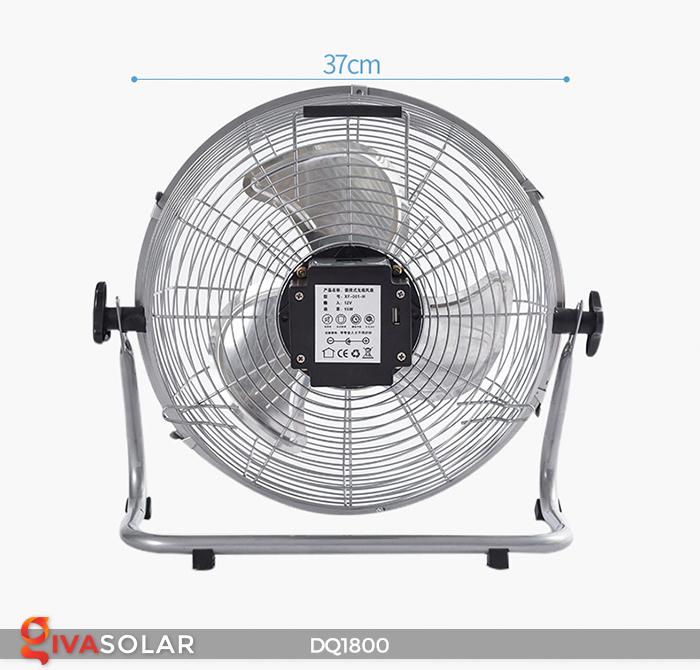 Quạt năng lượng mặt trời tiện lợi DQ1800 6