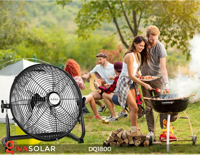 Quạt năng lượng mặt trời tiện lợi DQ1800 8
