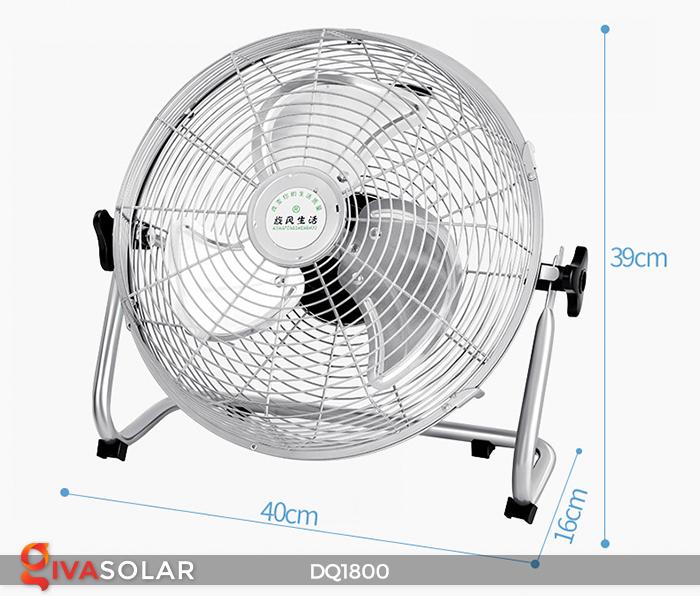 Quạt năng lượng mặt trời tiện lợi DQ1800 9