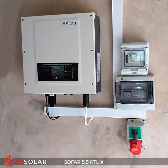 Inverter năng lượng mặt trời hòa lưới SOFAR 5.5KTL-X 1