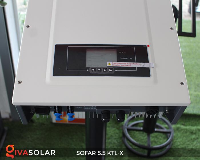 Inverter năng lượng mặt trời hòa lưới SOFAR 5.5KTL-X 10
