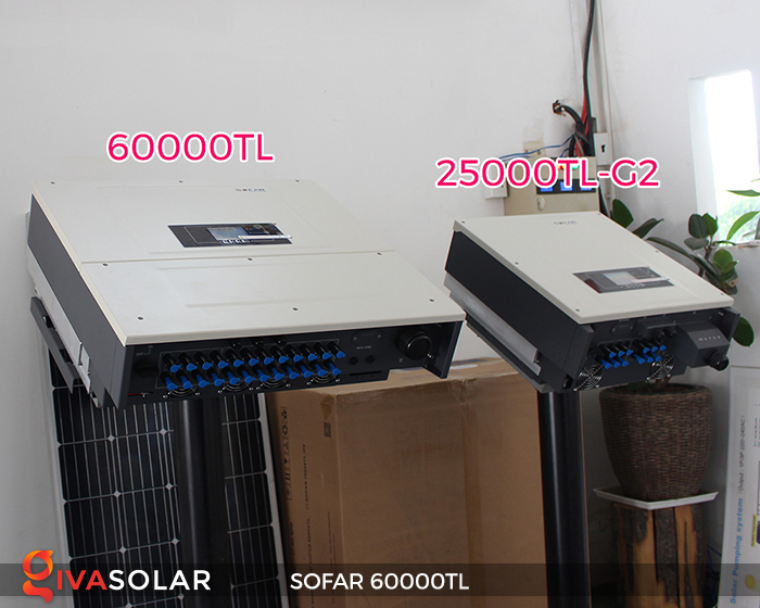 Biến tần năng lượng mặt trời hòa lưới 3 pha Sofar 60000TL 12