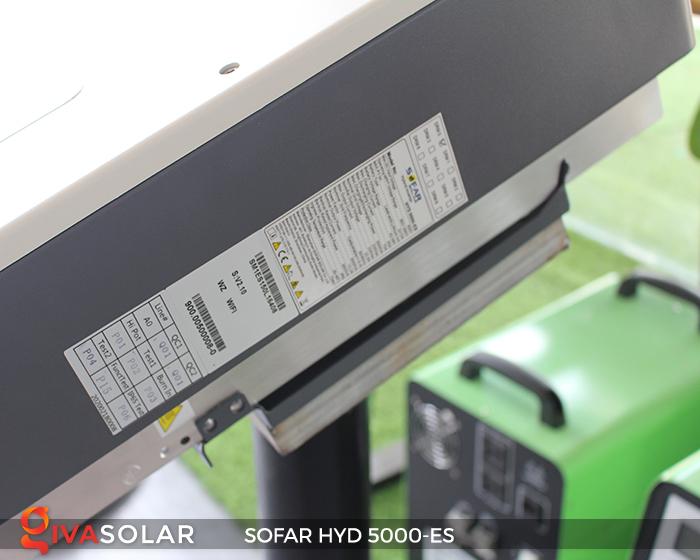 Bộ kích điện năng lượng mặt trời (inverter) hòa lưới có lưu trữ SOFAR HYD 5000-ES 8