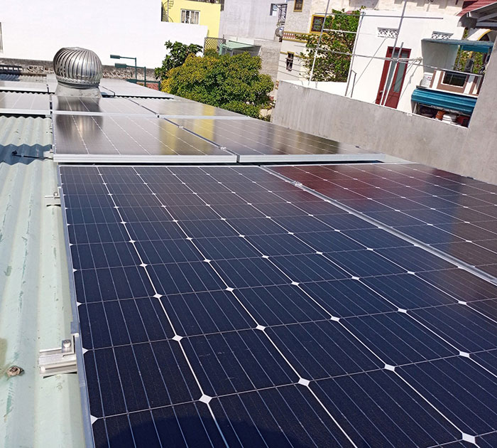Dự án lắp điện mặt trời 5kW cho gia đình tại quận 9 TPHCM 2