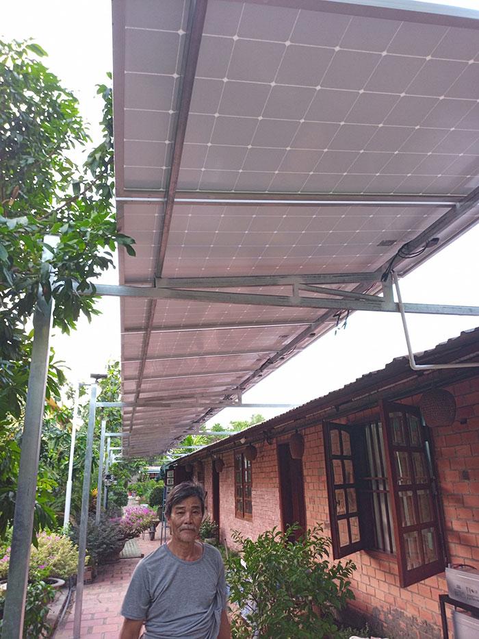 Lắp đặt hệ thống điện năng lượng mặt trời độc lập 5kW tại Tiền Giang 2