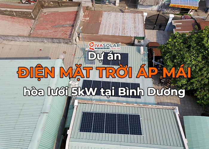 Điện mặt trời áp mái hòa lưới 5kWp tại Bình Dương 0