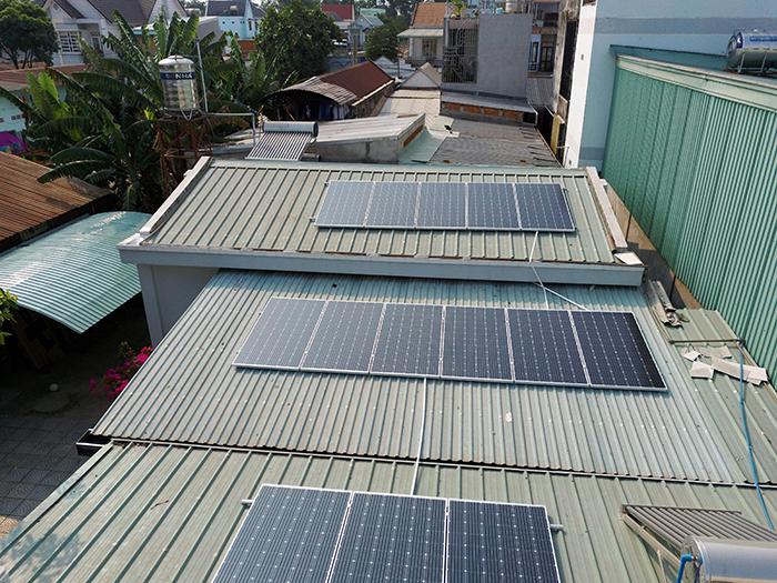 Điện mặt trời áp mái hòa lưới 5kWp tại Bình Dương 1