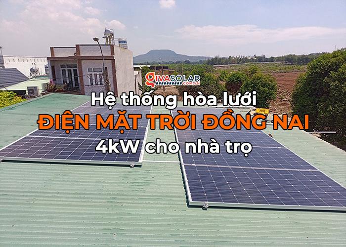[Điện mặt trời Đồng Nai] Hoàn thành hệ thống hòa lưới 4kW cho nhà trọ 0