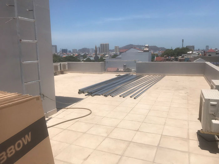[Năng lượng mặt trời Vũng Tàu] Lắp đặt hệ thống hòa lưới 12kW kinh doanh khách sạn 3