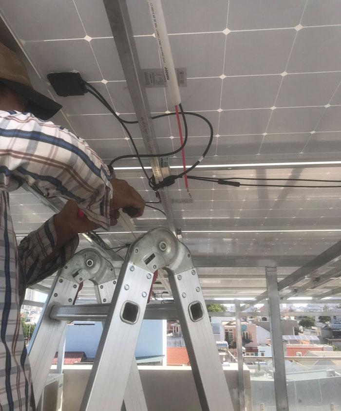 [Năng lượng mặt trời Vũng Tàu] Lắp đặt hệ thống hòa lưới 12kW kinh doanh khách sạn 9