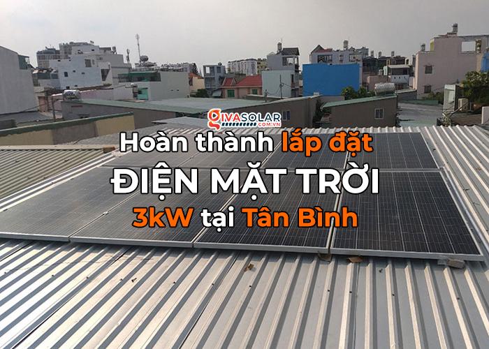 Hoàn thành lắp đặt điện mặt trời 3kW cho quán cà phê tại Tân Bình 0