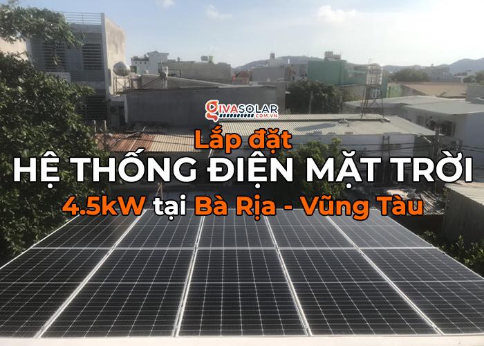 Givasolar.com.vn lắp hệ thống năng lượng mặt trời 4.5kW tại Bà Rịa - Vũng Tàu 0