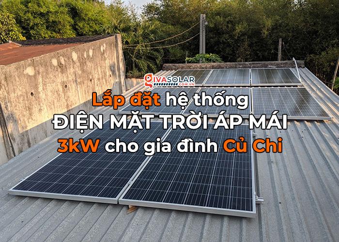 Lắp đặt điện mặt trời áp mái 3kW cho gia đình tại Củ Chi 0