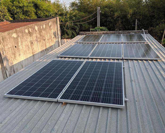 Lắp đặt điện mặt trời áp mái 3kW cho gia đình tại Củ Chi 2