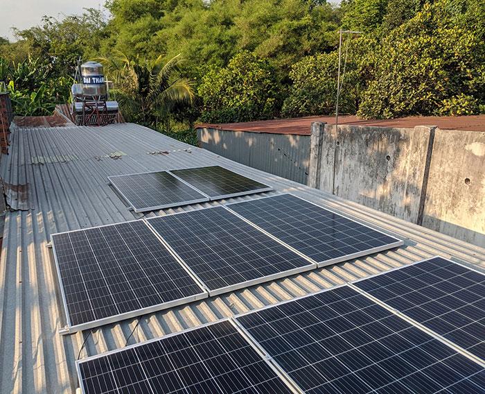 Lắp đặt điện mặt trời áp mái 3kW cho gia đình tại Củ Chi 4