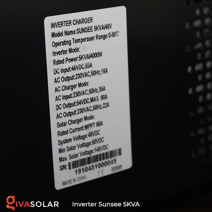Inverter năng lượng mặt trời đa năng SUNSEE 5KVA 13