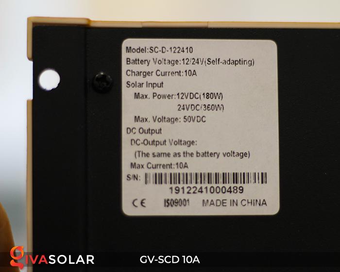 Bộ điều khiển sạc pin năng lượng mặt trời SC-D 12 24V 10A 14